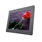 "14"" LED Full blog Slim Desktop Digital Photo Frame w/ SD / 3.5mm / USB - Black (US Plug)"
