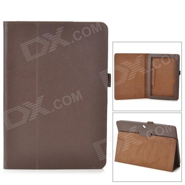 Protective PU Leather Case w/ Auto Sleep for ASUS MeMO Pad ME102A 10 - Brown аксессуар чехол asus vivo tab me400c memo pad 10 me102a nexus 10 time black