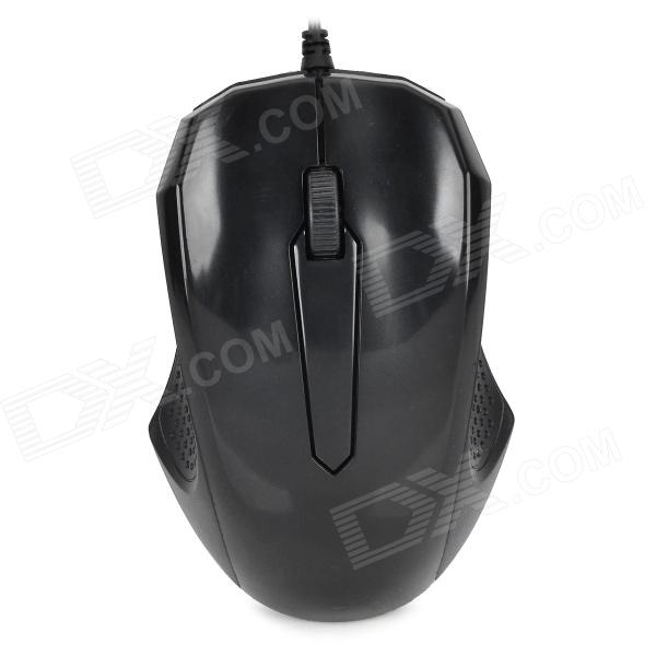 5060B USB 2.0 Wired 1000 dpi Optical Mouse - Black