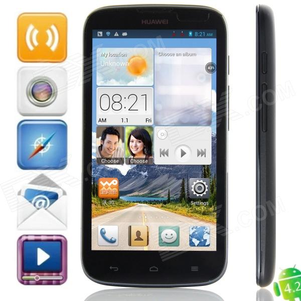 HUAWEI G610-U00 MTK6589 Quad-Core Android 4.2.1 WCDMA Bar Phone w/ 5.0″, Wi-Fi, GPS – Black