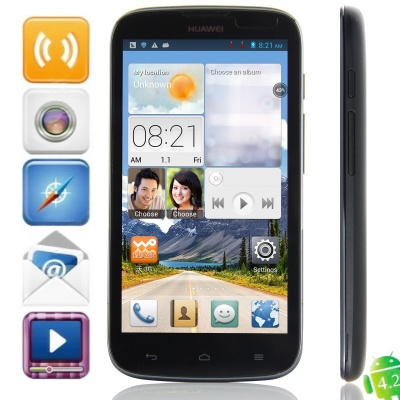 HUAWEI G610-U00 MTK6589 Quad-Core Android 4.2.1 WCDMA Bar Phone w/ 5.0