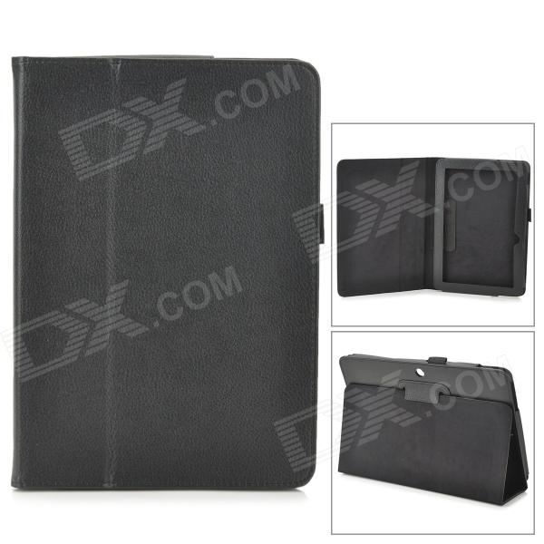 Protective PU Leather Case w/ Auto Sleep for ASUS MeMO Pad ME102A 10 - Black аксессуар чехол asus vivo tab me400c memo pad 10 me102a nexus 10 time black