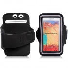 Protective Neoprene Sports Armband for Samsung Galaxy Note 3 N9000 - Black + White