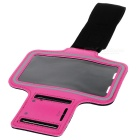 Protective Sports Neoprene Armband for Samsung Galaxy S4 / i9500 - Deep Pink