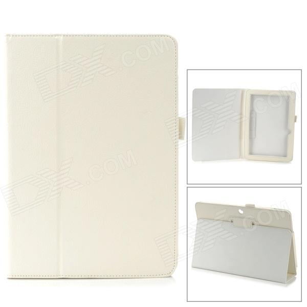 Protective PU Leather Case w/ Auto Sleep for ASUS MeMO Pad ME102A 10 - White аксессуар чехол asus vivo tab me400c memo pad 10 me102a nexus 10 time black