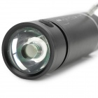 Music 3V 100lm 5-Mode Flashlight w/ Alarm / Strap / MP3 / USB - Black