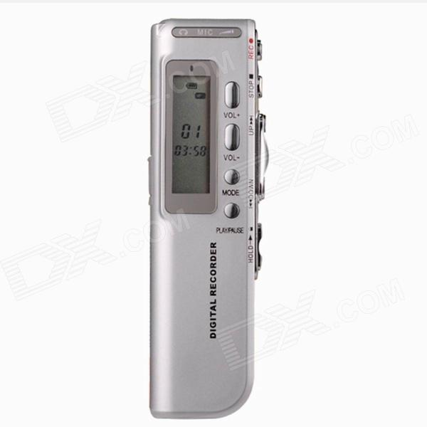 8GB High Quality Digital Voice Recorder - Silver