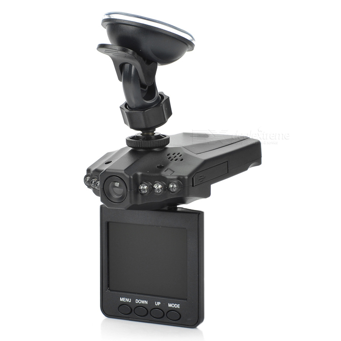 H.264 720P Wide Angle 6-LED Night Viewing Digital Car DVR Camcorder AV / Mini USB / SD (2.5
