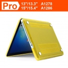 "ENKAY Crystal Hard Protective Case for Macbook Pro 15.4"" - Translucent Yellow"