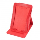 Protective PU Leather Top-flip Stand Case Cover for Amazon Kindle Paperwhite - Red