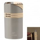 COHIBA H083B Stylish Windproof Butane Jet Flame Lighter - Silver + Golden