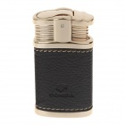 COHIBA H081A Super Fire Windproof Butane Jet Flame Cortical Body Lighter - Golden + Black
