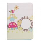 Stylish Owl Pattern Protective PU Leather Case Cover Stand for Ipad MINI - Green + White