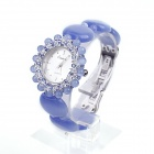 EANA WL01001P Fashionable Quartz Bracelet Opal Women's Quartz Wrist Watch - Blue (1 x SR626SW)