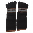 Enbl MF777 Fashionable Men's Cotton Toe Socks - Black + Brown + Grey (Pair)