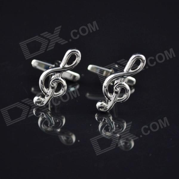DEDO MG-114 High Notes Shirt Cufflinks - Silver (2 PCS)
