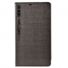 KAIMEI Lucky Series PU Leather + Plastic Case Cover Stand for Samsung Galaxy Note 3 N9000 - Grey