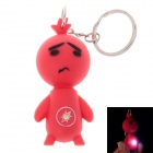 Facial Expression LED Keychain - Red
