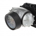 4W 190lm 4-Mode 19-LED White Light Head Lamp - Silver + Black (3 x AAA)