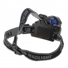 8203B 2W 90lm 1-Mode 1-LED White Light Head Lamp - Dark Blue + Black (3 x AAA)