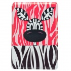 Lovely Bulldog Pattern PU Leather Case Cover Stand for Retina Ipad MINI - Pink + Black + White