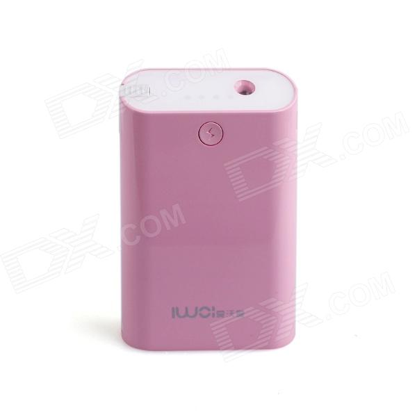 IWOI WP806 Portable 6600mAh Mobile Power Source w/ LED for Iphone + More - White + Pink шкатулка swiss kubik sk01 fa002 wp
