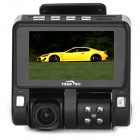 "TEER H7180-b 3.0"" TFT 5.0MP 720P Wide Angle 4-LED Night Viewing Digital Car DVR - Black + Silver"
