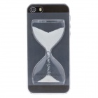 BEST Creative Sand Timer Style Protective Plastic Back Case for Iphone 5S - Transparent + White