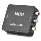 HDMI to AV / CVBS L/R Video Converter - Black
