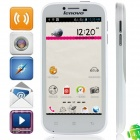 Lenovo A706 MSM8225Q Quad-Core Android 4.1.2 WCDMA Bar Phone w/ 4.5' IPS, Wi-Fi, GPS -White + Silver