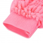 HongYang X-04 Chenille Fiber Single-side Car Washing Glove / Cleaning Cloth - Pink