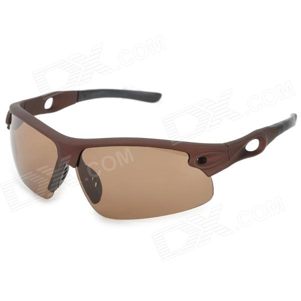 UV400 Protection Polarized Sunglasses - Tan + Black