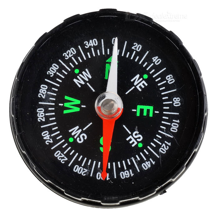Stylish Fluid-filled Compass - Black + GreenCompasses<br>Form  ColorBlackPacking List<br>