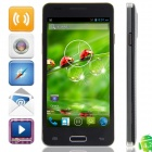 "W9002 MTK6582 Quad-Core Android 4.2.2 WCDMA Bar Phone w/ 4.5"", FM, Wi-Fi, GPS - Black"