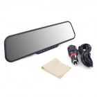 "BPeDH F9 2.7"" TFT 12.0 MP 162' Wide Angle HD Car DVR / Rearview Mirror w/ AV-OUT / One Key SOS Lock"