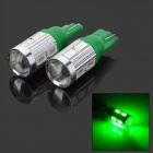 LY538 T10 4W 180LM 10-5730 SMD LED Green Light Flood Light Width Light (2 PCS)