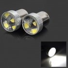 LY530 1156 2W 100lm 6000K 6-SMD 3030 LED Flood White Car Steering Lights (12V / 2 PCS)