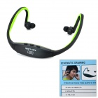 Auricular inalámbrico recargable Deportes MP3 Player w / TF / FM - Negro + Gris