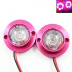 2W 25lm 2-LED Car Motorcycle Decorative Red Emergency Strobe Flash Light - (DC 12V / 65cm-Cable)