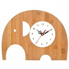 Cute Elephant Style Analog Wall Clock - Wood (1 x AA)