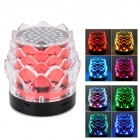 Lotus Flower Style Mini 3W Portable Speaker w/ Mini USB / TF / FM - Red + Black + Transparent