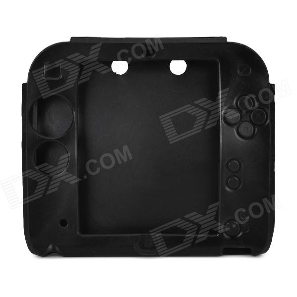 Stylish Protective Silicone Case for 2DS - Black