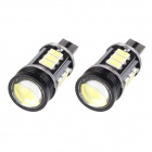 T10 7.5W 420lm 12-SMD 5630 LED + 1.5W LED Error Free White Car Parking Lamp / Car Turn Signal Light