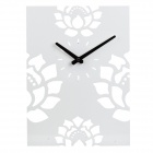 MB003 Stylish Lotus Skeleton Pattern Analog Wall Clock - White (1 x AA)