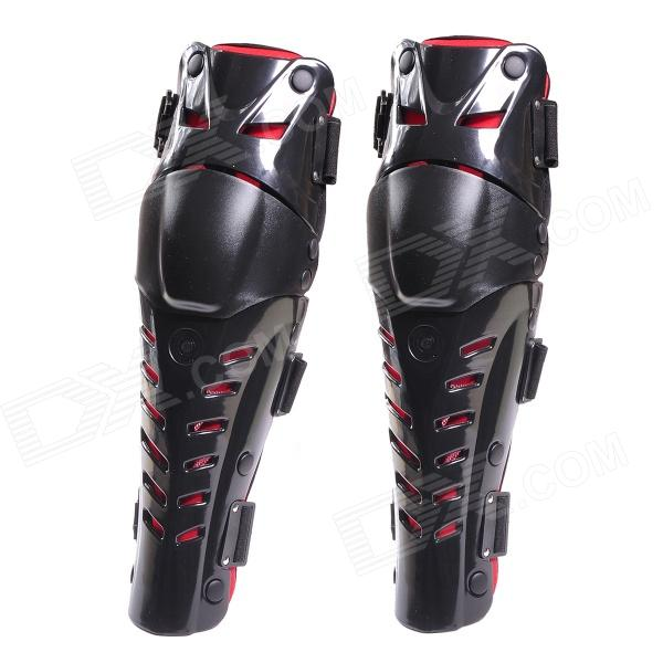 AY016 Motorcycle Sports Outdoor Riding Knee Pad Guard - Black + Red (Pair) uglybros vegas jeans hidden side of the knee motorcycle riding motorcycles jeans trousers blue