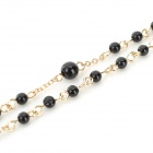 NC-3704 Zinc Alloy Sweater Necklace for Women - Golden + Black