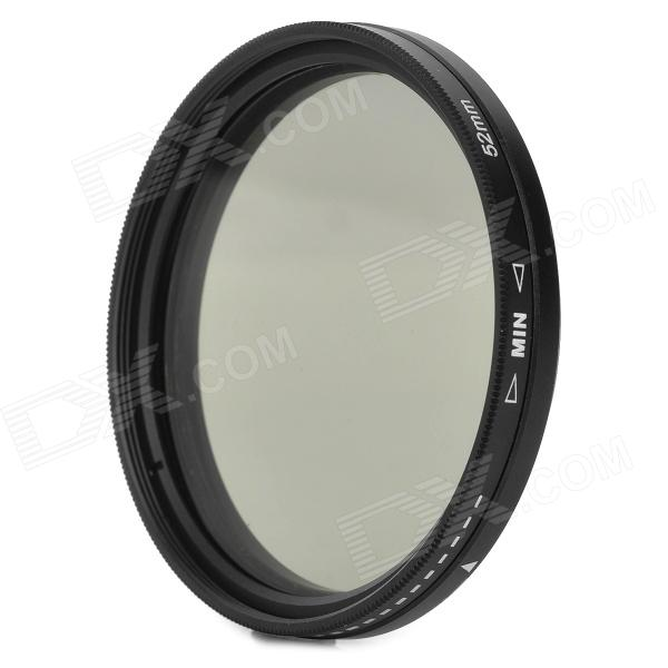 ND2-400 52mm Variable Fader Filter for Digital Camera - Black + Transparent f14506 zomei ultra slim hd 18 layer super multi coated glass density neutral gray nd1000 lens filter 82mm for digital camera fs