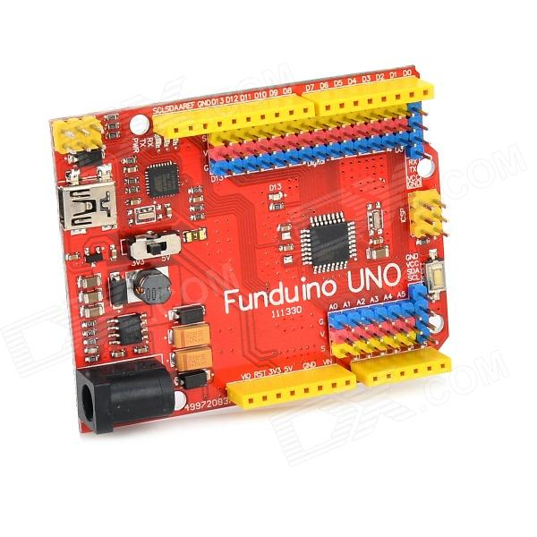 FR4 Funduino UNO Board for Arduino - Red