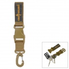 Free Soldier FS-KK01 Quick Release Nylon Keychain - Brown + Black