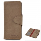 Fashion Long Flip-open Second Leather Wallet for Men - Brown